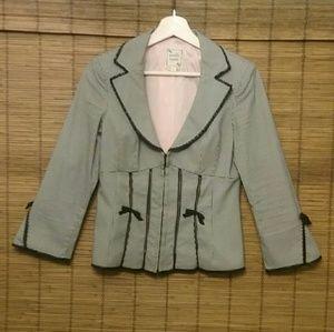 NANETTE LEPORE Stunning Black & White Jacket
